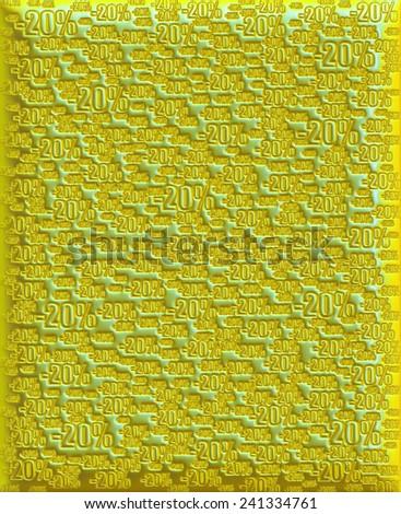 20% green yellow background - stock photo