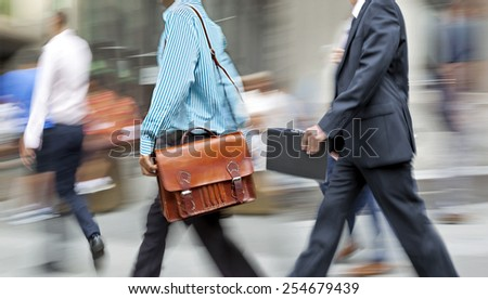 group of business people in the street - stock photo