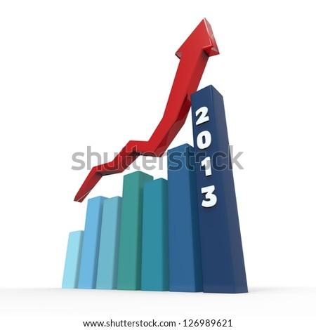 2013 Growth Charts - stock photo