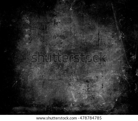 Grunge Abstract Wall Background. Scratched Grey Texture With Frame