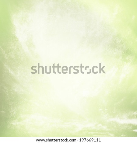 Grunge faded green texture background - stock photo