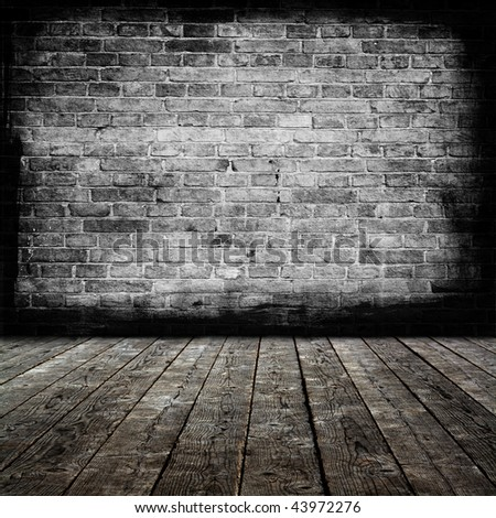 Grunge  room interior. More similar available in my portfolio. - stock photo