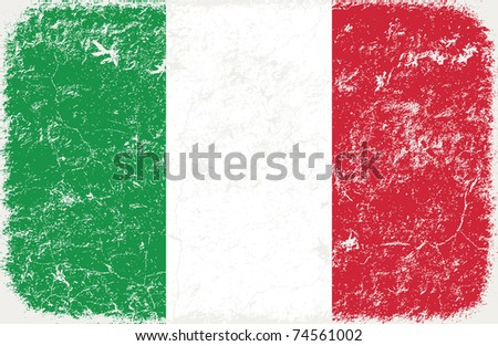 grunge styled flag of Italy - stock photo