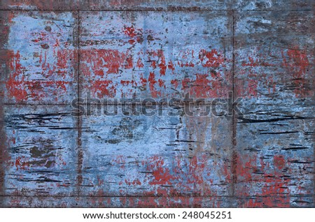 Grungy Metal Background with Seams (Part of Grungy Textures with Rusty Seams set, which includes textures that can be used together to create a huge image) - stock photo