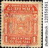 GUATEMALA - CIRCA 1945: A stamp printed in Guatemala shows Department of Transportation, circa 1945 - stock photo