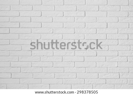 gypsum white wall  from texture bricks as a background - stock photo