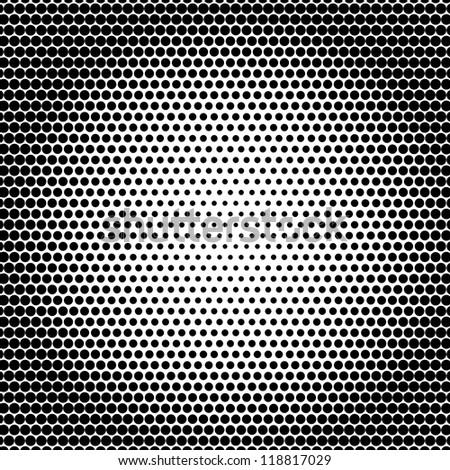 halftone dots background - stock photo