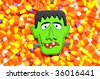 Halloween image/candy useful as a background - stock photo