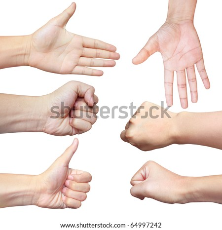 6 hand - stock photo
