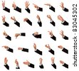28 hand business signs isolated on white over 300Mpix/Business hand signs/28 hand sign - stock photo