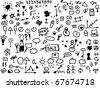 220 hand draw web icon isolated on white background - stock photo