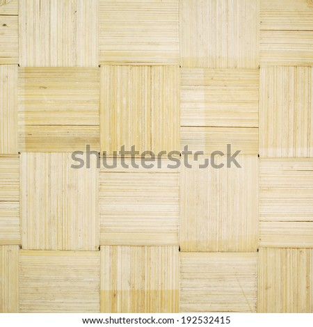 handcraft of bamboo weave pattern