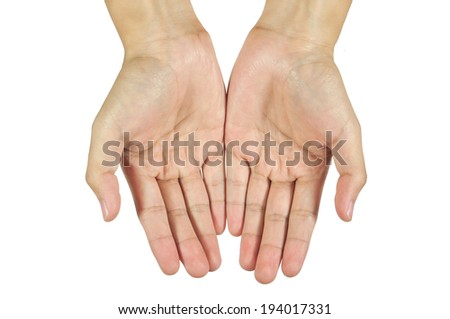 hands give something. - stock photo