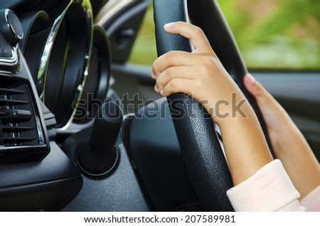 Hands of children are caught up in force. - stock photo