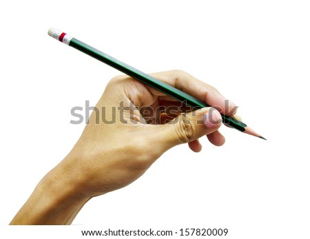 1 hands with pencil