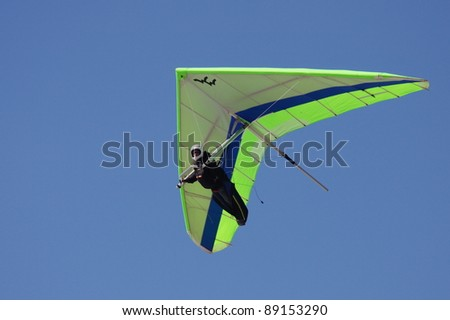 Hang gliding - stock photo