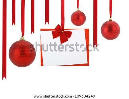 2013 hanging on red ribbons - stock photo