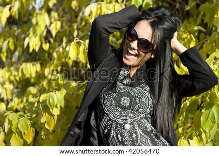 happy autumn - stock photo