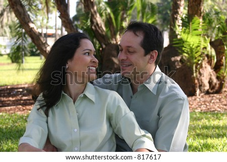 Happy couple series -4 - stock photo