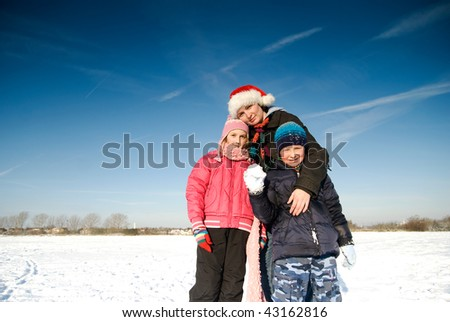 happy  family - Winter time