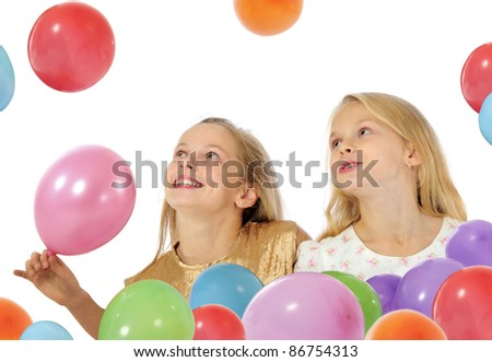 Happy kids playing - stock photo
