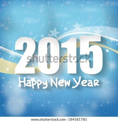 2015 Happy New Year - stock photo