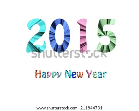 2015 - Happy New Year - stock photo