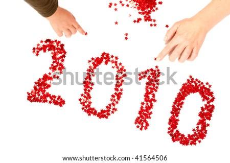 2010 Happy New Year - stock photo