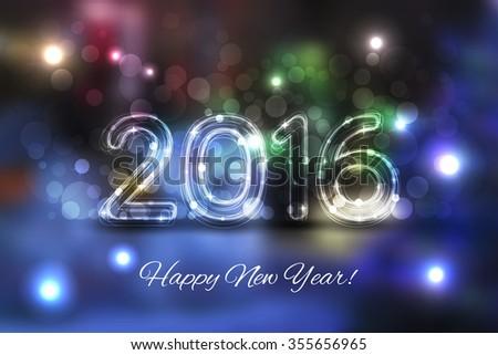 2016 Happy New Year background - stock photo