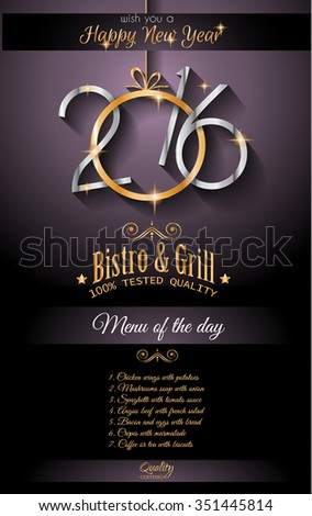 2016 happy new year background seasonal stock illustration 351445814