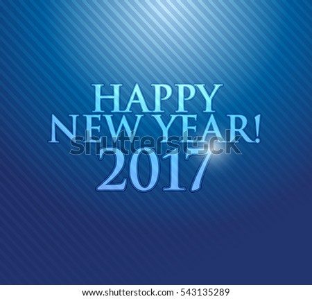 2017 Happy New Year. Blue texture background