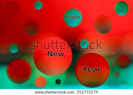 happy new year . Colorful design full of vitality, enthusiasm and positive energy - stock photo