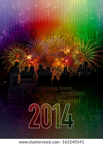 2014 Happy New Year cover poster concept