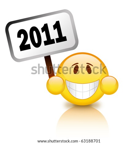 2011 happy new year sign