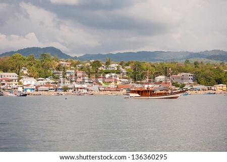harbor in Labuan Bajo, Flores island, Indonesia
