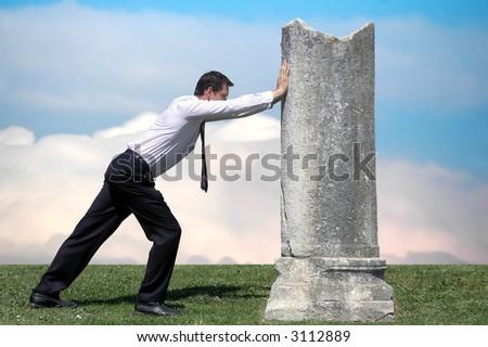 "Hardworking.Metaphor( ""Sisyphean task"" or ""Sisyphean challenge"") - stock photo"