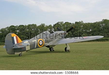 1941 Hawker Hurricane - stock photo