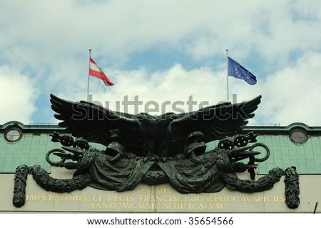2 headed austrian eagle - stock photo