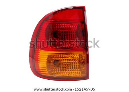 headlight - stock photo