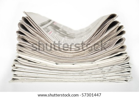 heap of newspapers - stock photo