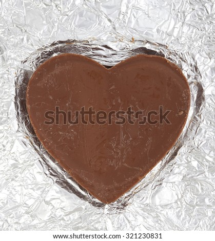 heart shape chocolate for Valentine's Day - stock photo
