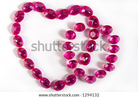 Hearts from faceted crystals - stock photo