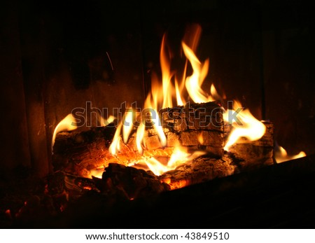 Heating with wood - stock photo