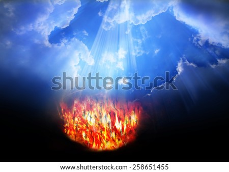 Heaven and Hell - stock photo