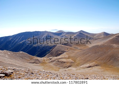 High mountain peaks