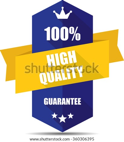 100% high quality blue Label, Sticker, Tag, Sign And Icon Banner Business Concept, Design Modern With Crown.  - stock photo
