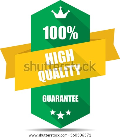 100% high quality green Label, Sticker, Tag, Sign And Icon Banner Business Concept, Design Modern With Crown.  - stock photo