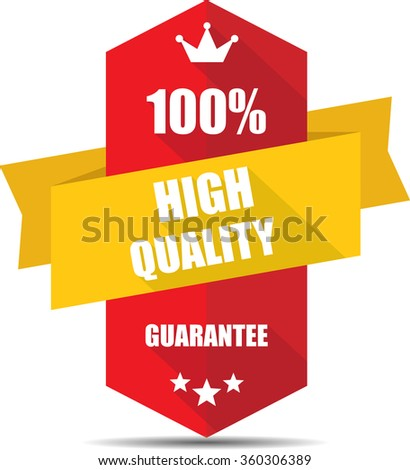 100% high quality red Label, Sticker, Tag, Sign And Icon Banner Business Concept, Design Modern With Crown.  - stock photo