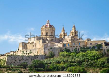 Historic town of Mdina, Malta / Gozo - stock photo