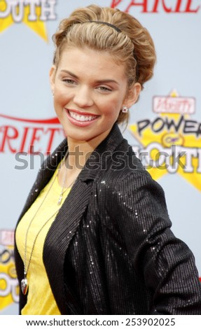 05/12/2009 - Hollywood - AnnaLynne McCord at the Variety's 3rd Annual Power of Youth Event held at the Paramount Pictures Studios in Hollywood, California, United States.  - stock photo